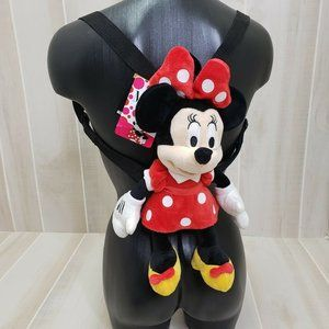 Disney Minnie Mouse Plush toddler backpack NWT